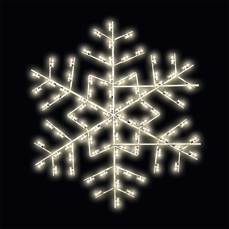 5' LED Star Snowflake Pole Mount