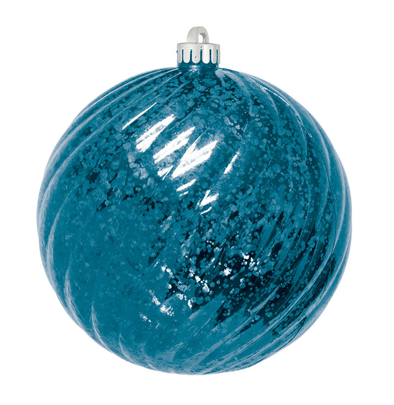 Commercial Mercury Round Swirl Ornaments - 2 Sizes