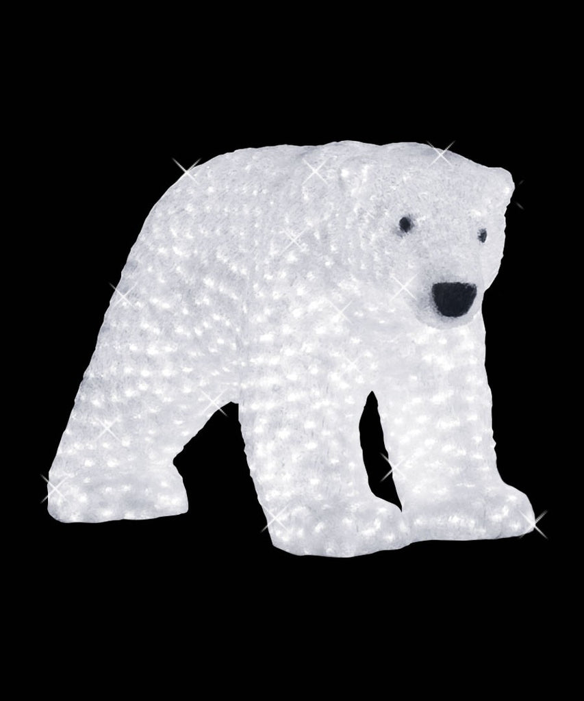 Acrylic Lit Mommy Polar Bear Sculpture