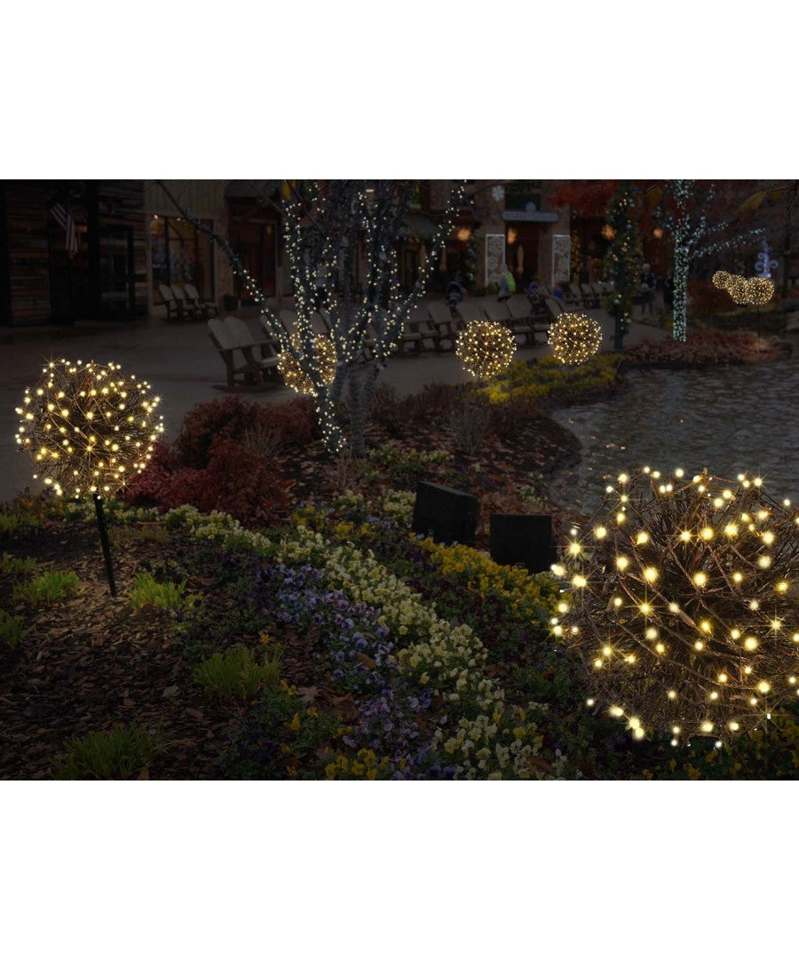 Lit Grapevine Sphere Christmas Yard Decor