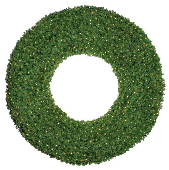 Natural Mountain Pine Commercial Christmas Wreath