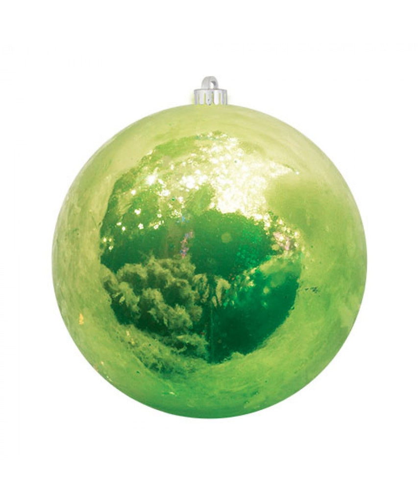 Apple Green Pearlized Christmas Ball Ornament