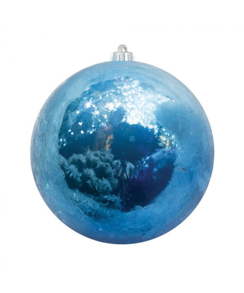 Blue Pearlized Christmas Ball Ornament