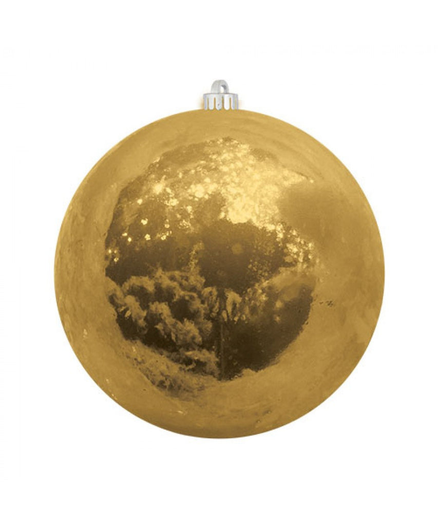 Gold Pearlized Christmas Ball Ornament