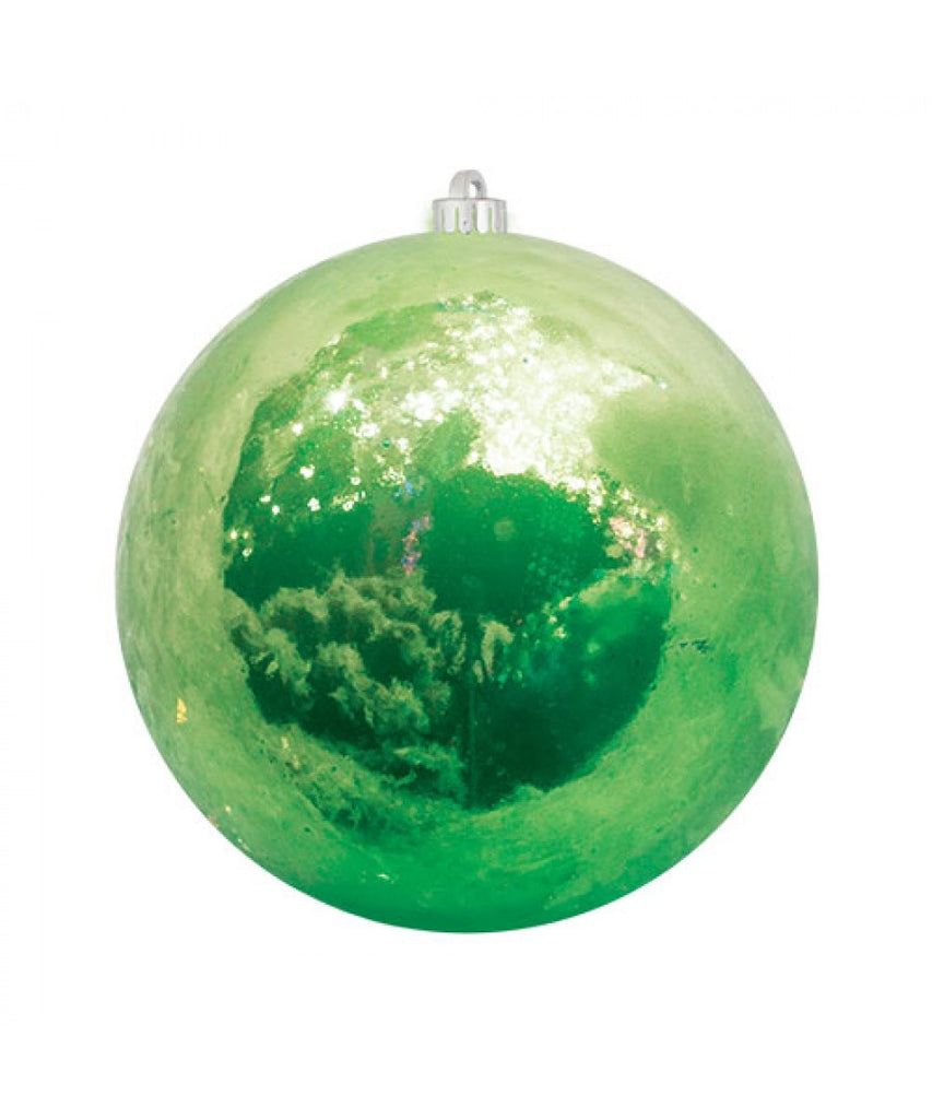 Green Pearlized Christmas Ball Ornament
