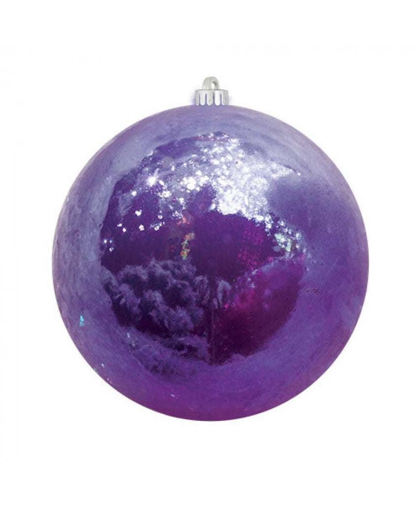 Purple Pearlized Christmas Ball Ornament