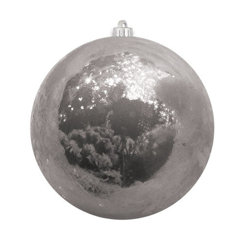 Silver Pearlized Christmas Ball Ornament