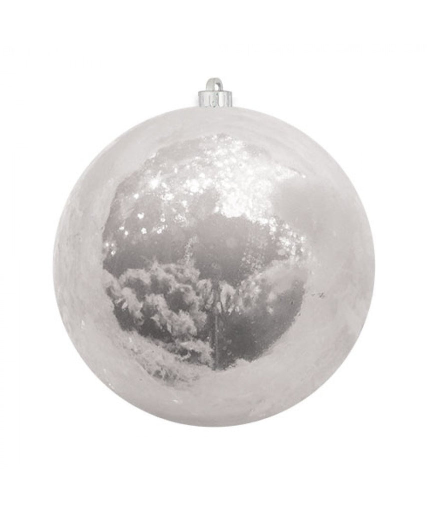 White Pearlized Christmas Ball Ornament