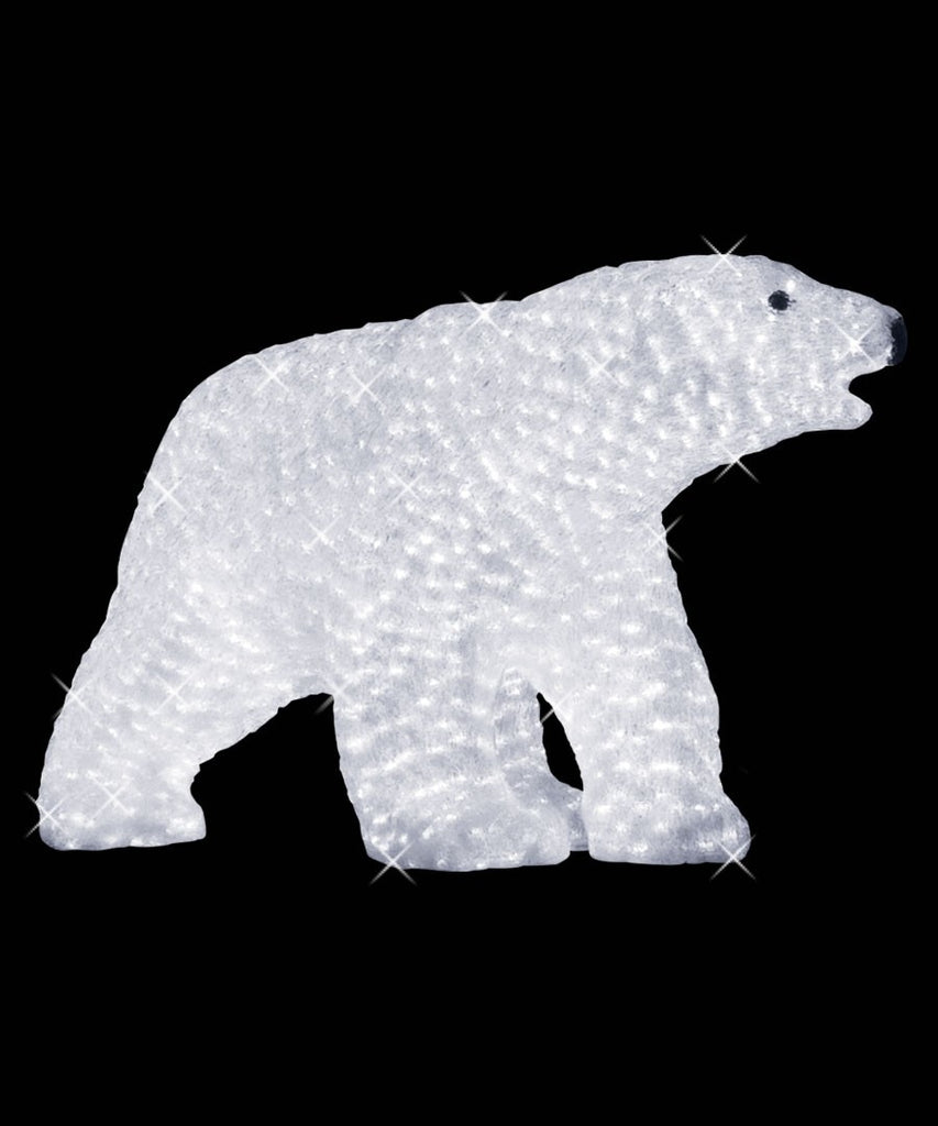 Acrylic Lit Polar Bear Daddy Sculpture