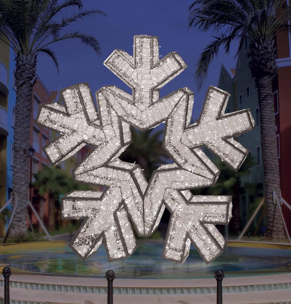 Giant Illuminated Snowflake Prop Commercial Christmas Supply