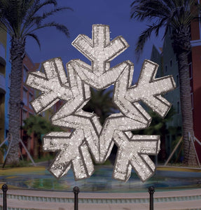 Cool White Giant LED Snowflake Outdoor Decoration