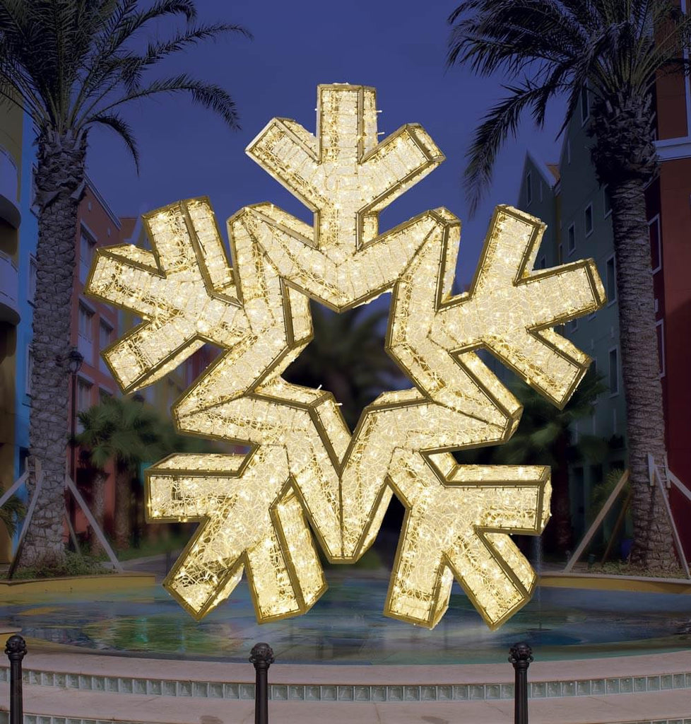 Warm White Giant LED Snowflake Outdoor Decoration