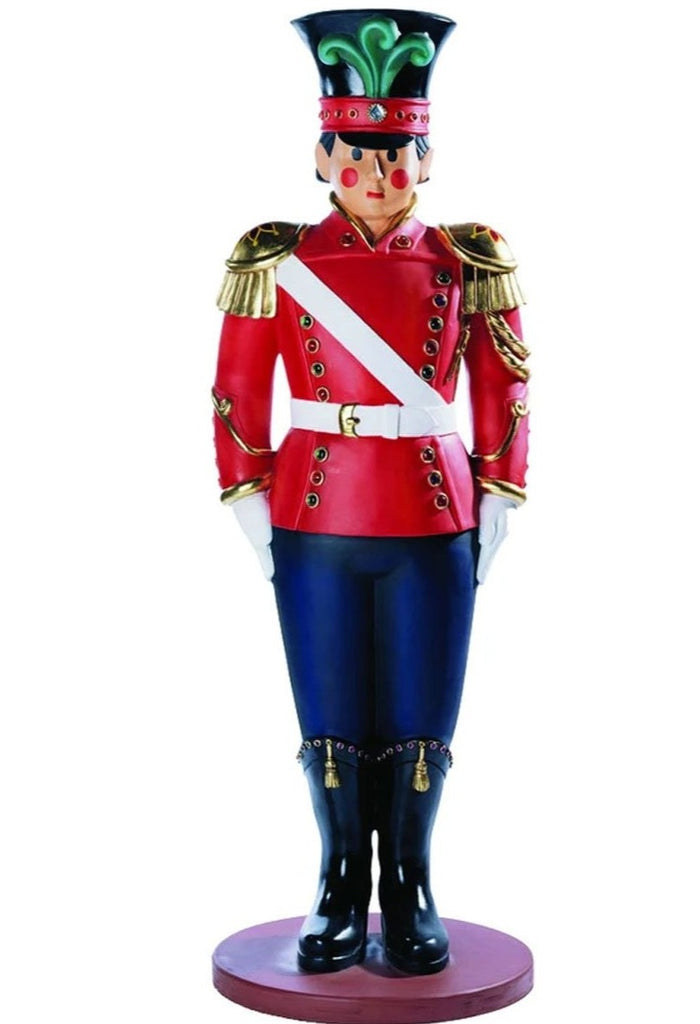 Life Size Fiberglass Toy Soldier Indoor Outdoor Holiday Prop