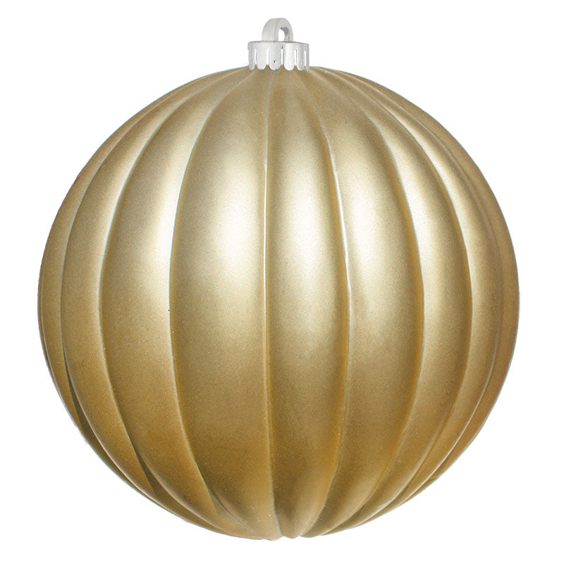 Ribbed Commercial Ornaments (Set of 6) 2 Sizes, 3 Styles