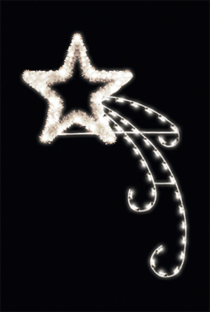LED Shooting Star Pole Mount with Festive Garland