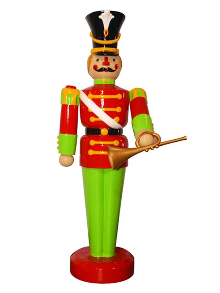Fiberglass Toy Soldier with Horn Giant Prop