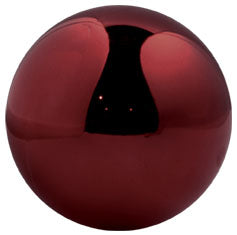 Shiny Round Burgundy Commercial Ornament