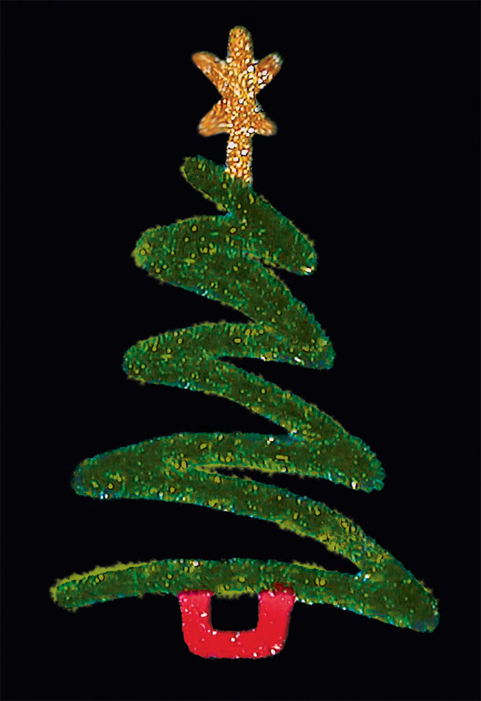 Illuminated Garland Christmas Tree Light Pole Decoration
