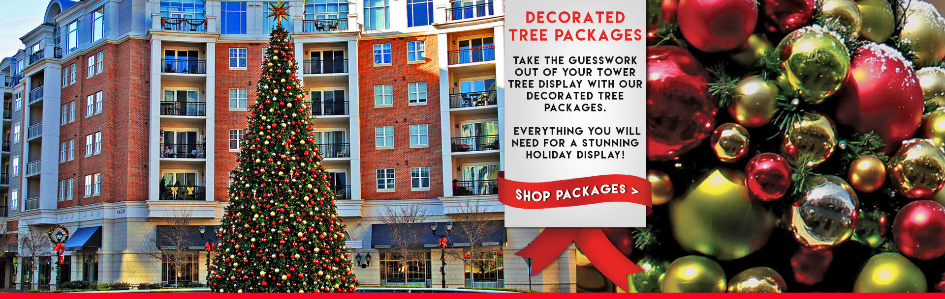 Pre Decorated Christmas Tree Packages