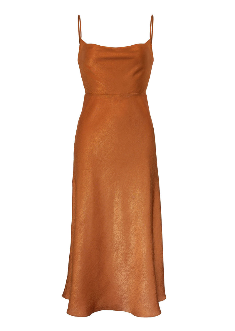 VADA DRESS - BURNT ORANGE