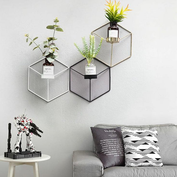 Hexagonal Planter Shelves