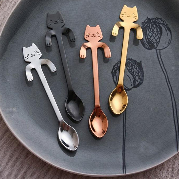 Luxury Feline Tea Spoon