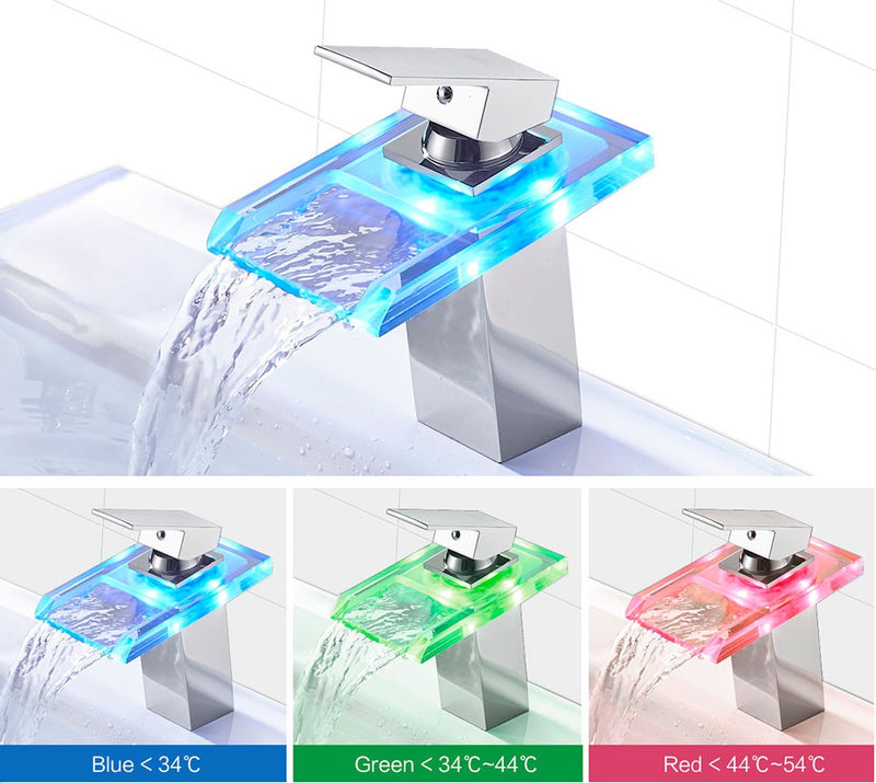 Futuristic LED Temperature Changing Faucet