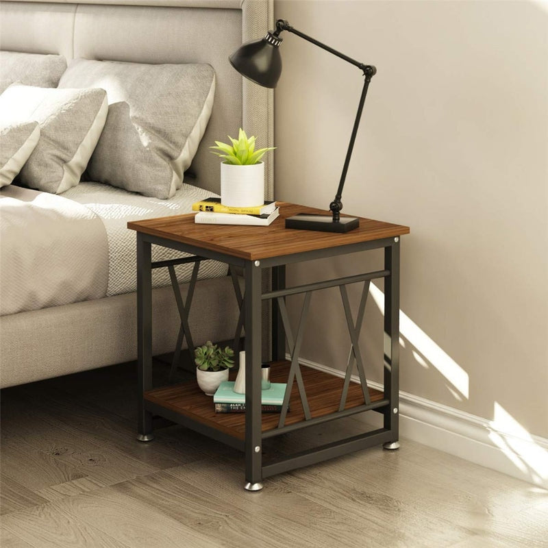 Wooden Artisan Side Table