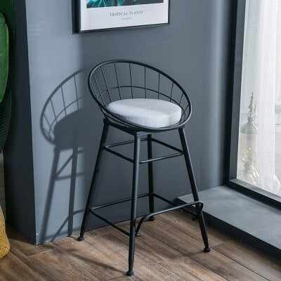 Nordic Style High Bar Stool