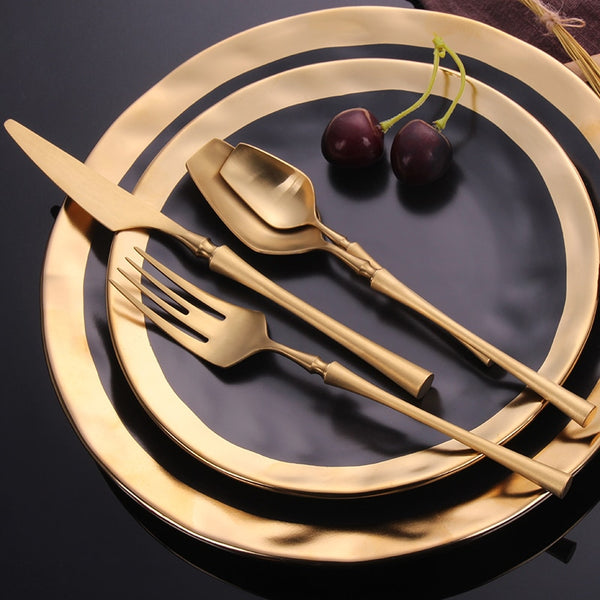 Royal - Mediterranean Style Gilded Cutlery 24 Piece Set