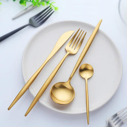 Pura - Deluxe Dining Gilded Cutlery Set (4/16 Piece Set)