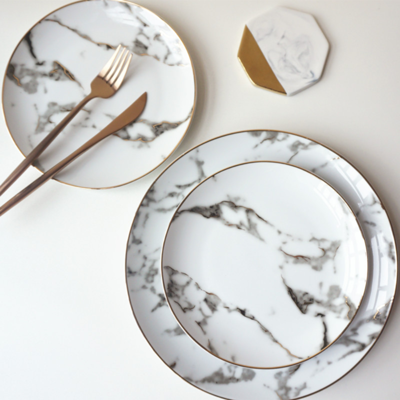 Marble Dinnerware Set