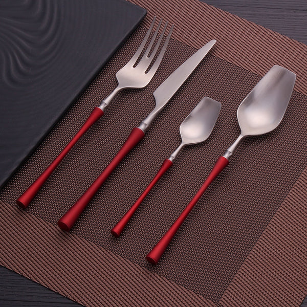 Royal - Mediterranean Style Vermeil 4 Piece Cutlery Set