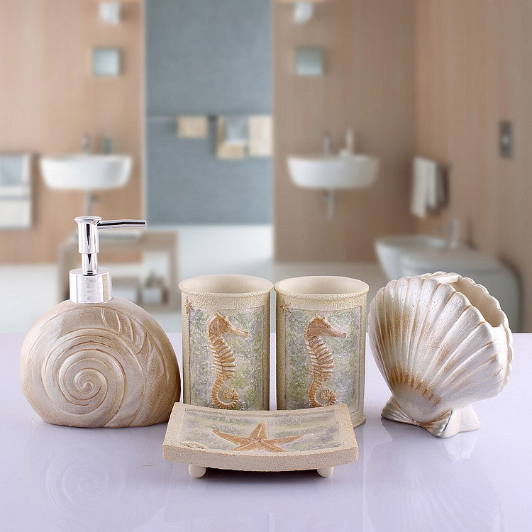 Sandy Shore Bathroom Accessories Set