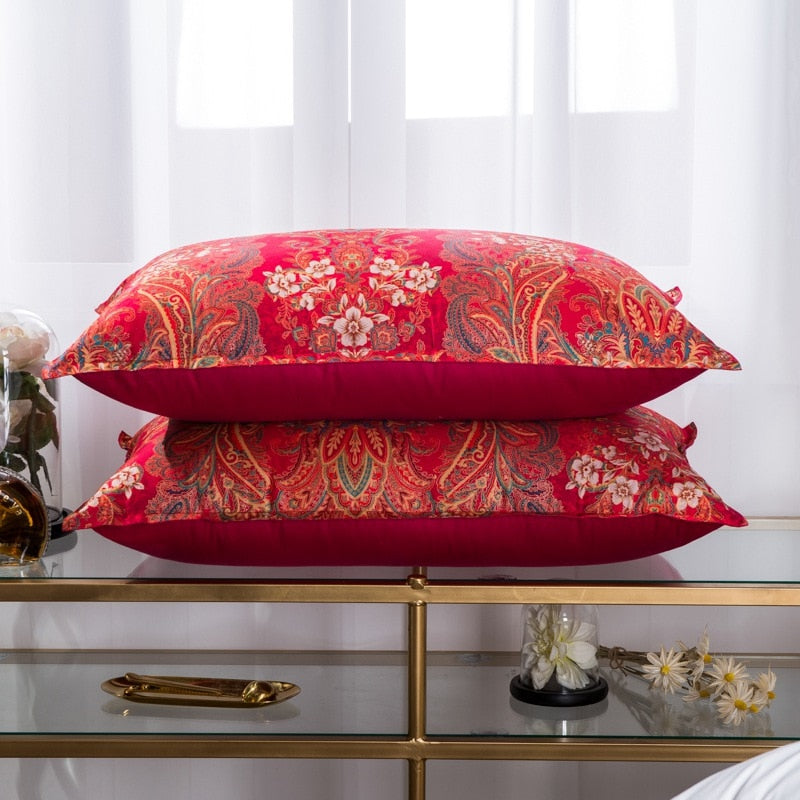 Luxury Red Goose Down Pillow