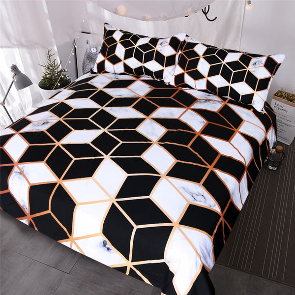 Royal Marble Luxe Duvet Cover Set