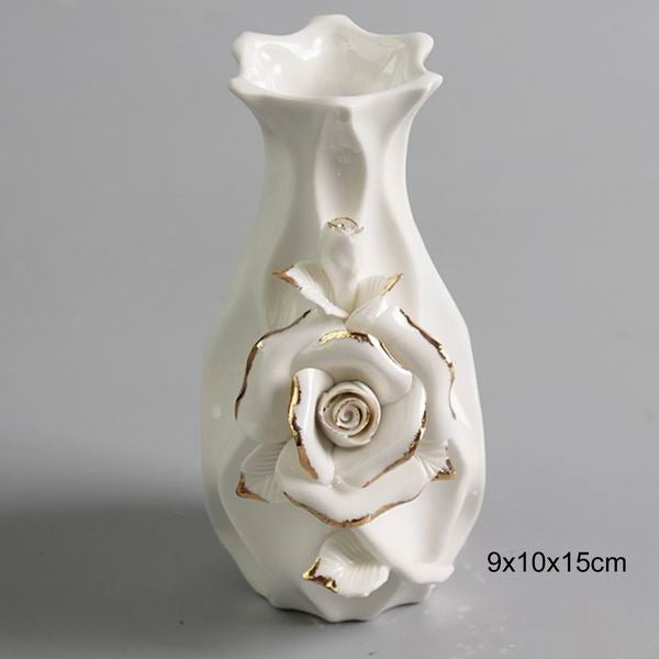 White Ceramic Decorative Flower Vase