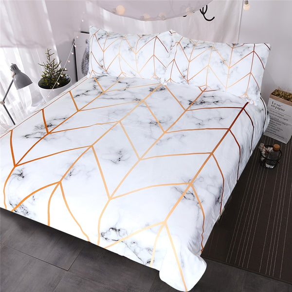 White Gold Dream Duvet Cover Set