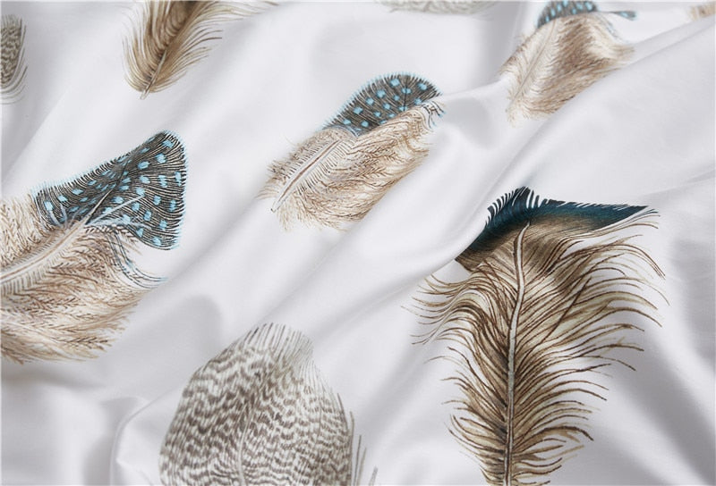Light Feather Duvet Cover Set (Egyptian Cotton)