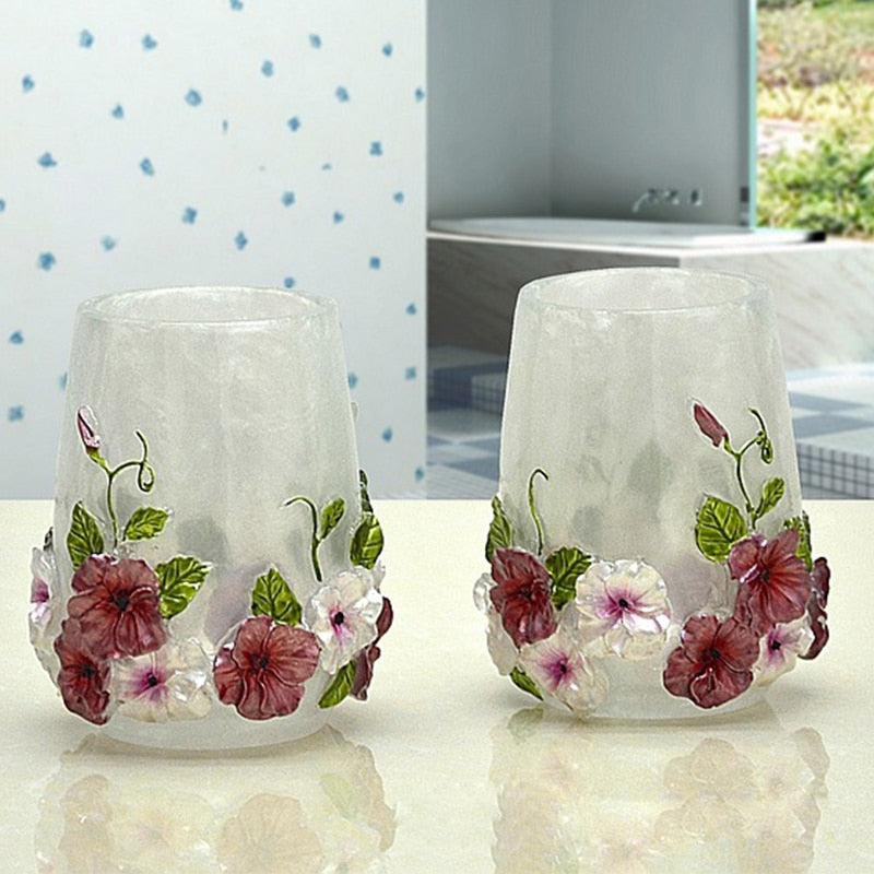 Orchid Bathroom Accessories Set