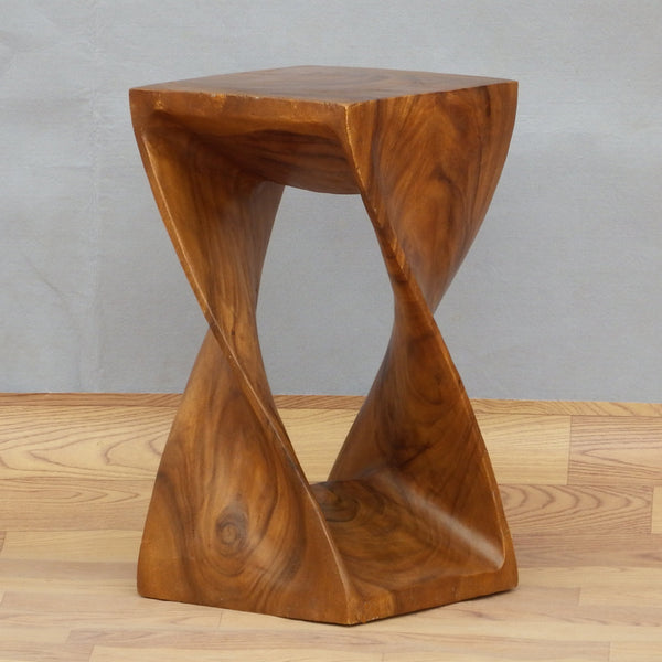 Sculpture Style Wooden Stool