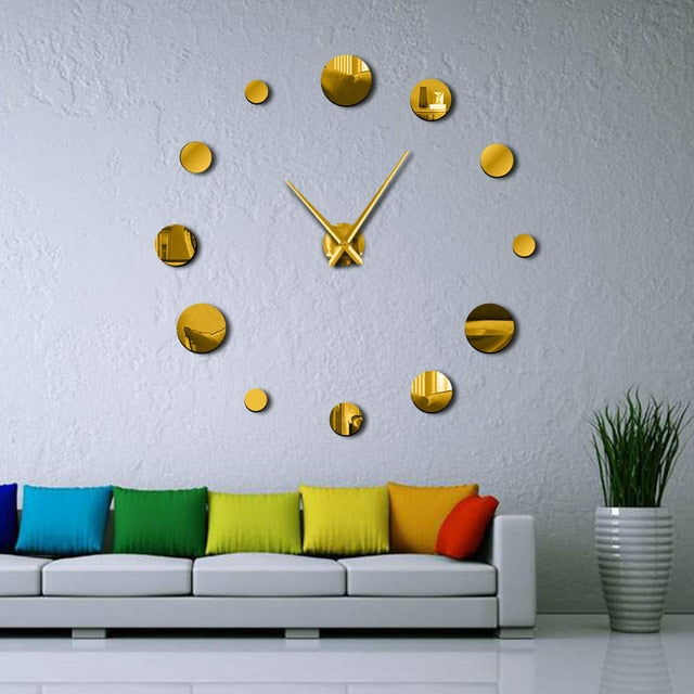 Large Frameless Clock