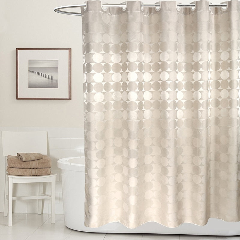Elegant Circle Solid Shower Curtain