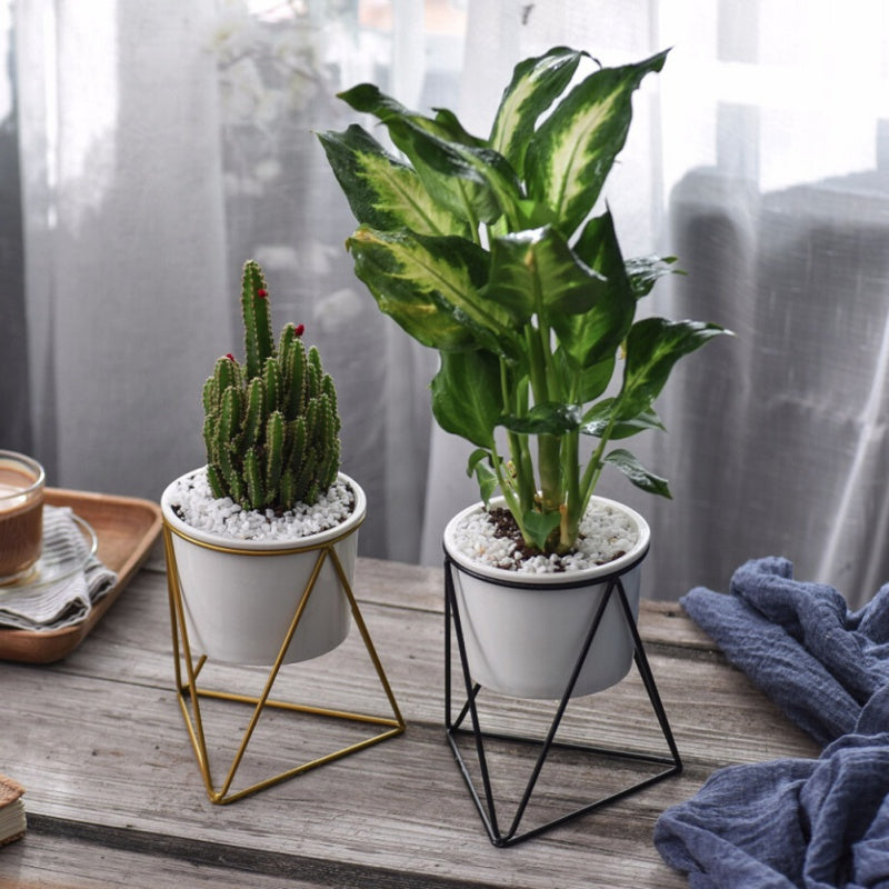 Nordic Style Geometric Plant Pot Holder