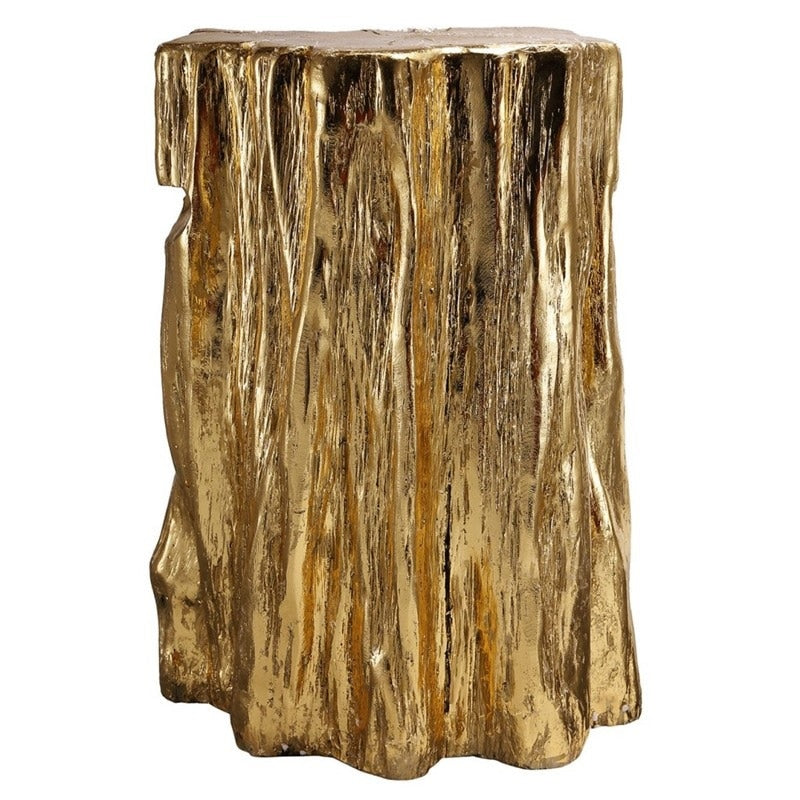 Gilded Apalachean Mountain Tree Trunk Stool