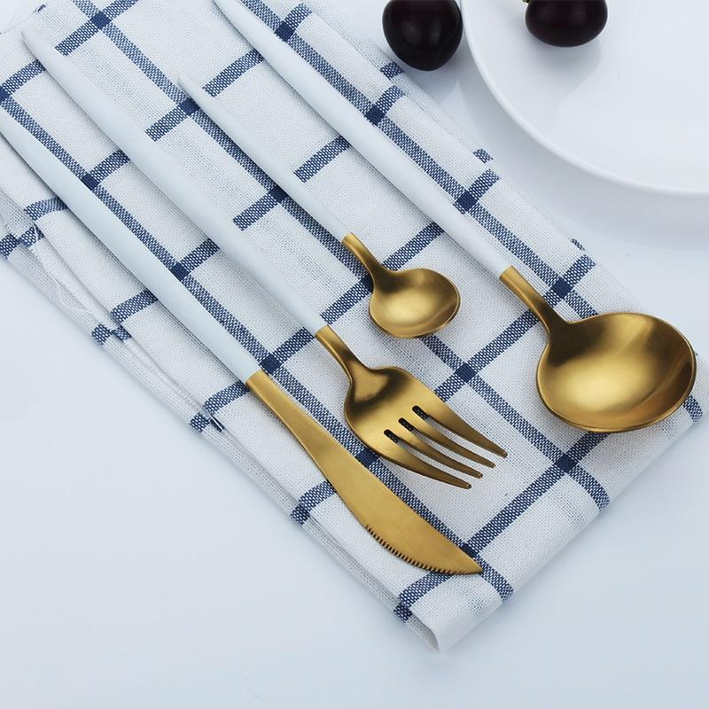 Contra - Deluxe Dining Gilded Cutlery Set (4/16 Piece Set)