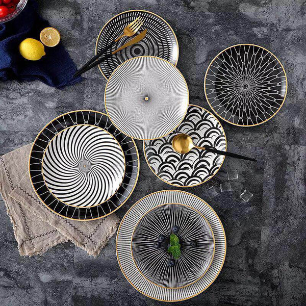 Fibonacci - Geometric Plate Collection