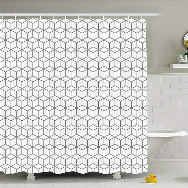 "Escher ""Illusion of Geometry"" Shower Curtain"