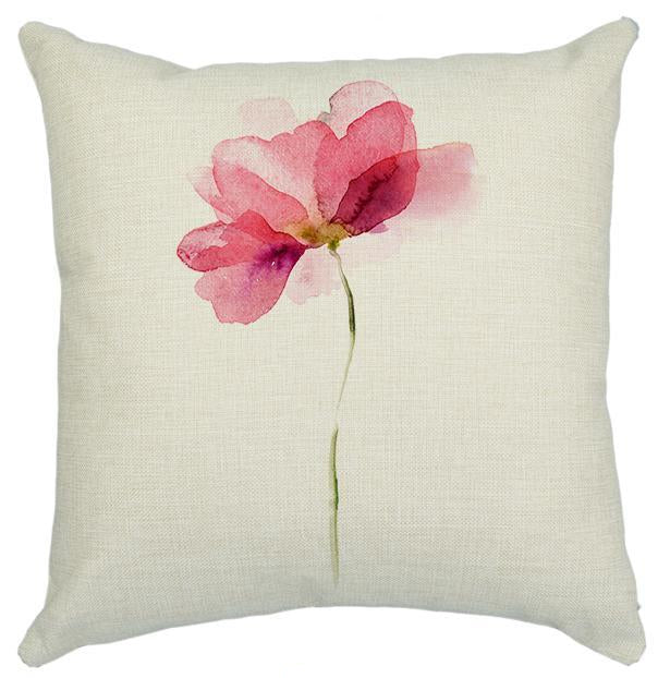 Modern Minimalist Flower Pillow Case