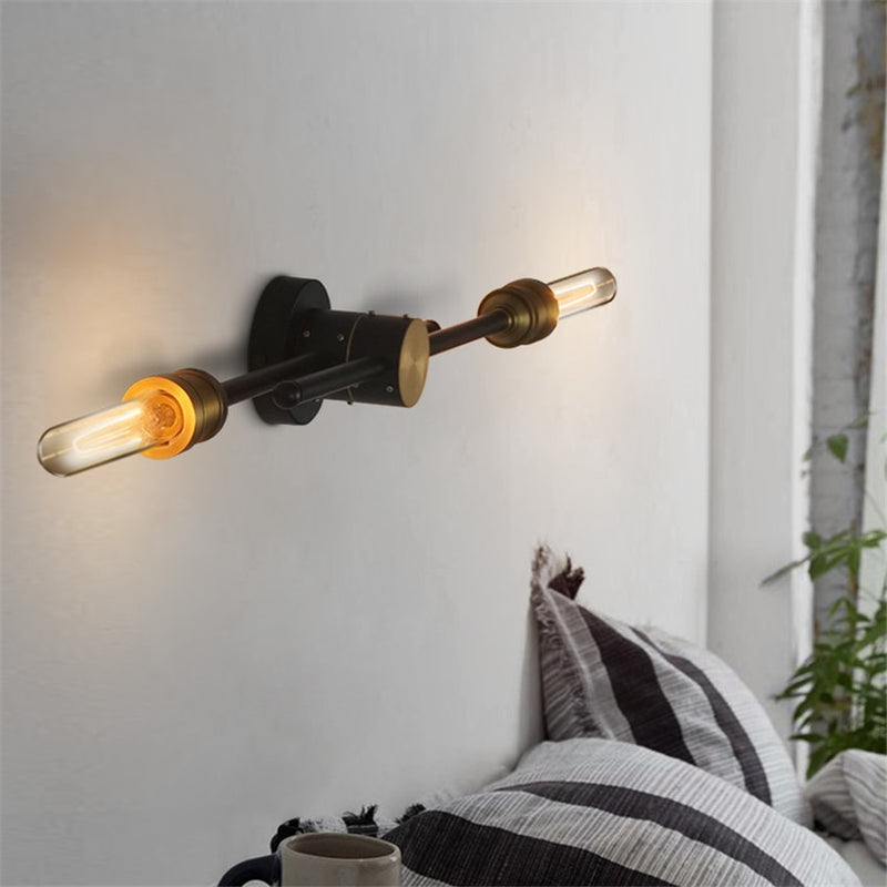 Iron Loft Dual Head Wall Light